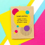 Bettie Confetti 'Your Sixties - Two Tries' Card